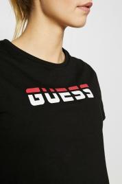 Dámské tričko O02A16JA900-A996 černá - Guess
