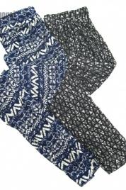 Dámské legíny RDS 900-014 modrý vzor- Moraj