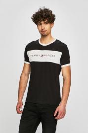 Pánské tričko UM0UM01170-990 černobílá - Tommy Hilfiger