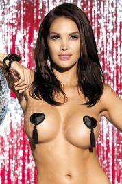 Lepítka na bradavky Tassel nipple covers black - Obsessive