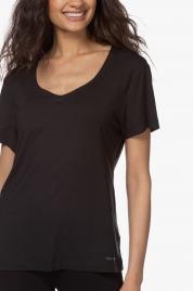 Dámské triko na spaní QS6486E-001 černá - Calvin Klein
