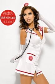 Sexy kostým Emergency dress + stetoskop - Obsessive