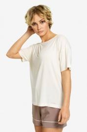 Dámské triko na spaní QS6408E-101 béžová - Calvin Klein