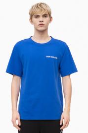 Pánské tričko OU45 modrá - Calvin Klein