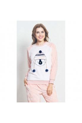 Dámské pyžamo dlouhé Tučňák s kulichem - Vienetta