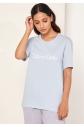 Dámské tričko QS6105E-7JC modrá - Calvin Klein