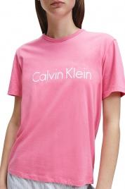 Dámské triko na spaní QS6105E-AD5 růžová - Calvin Klein