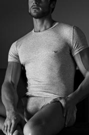 Pánské tričko 111035 CC729 00048 šedá - Emporio Armani