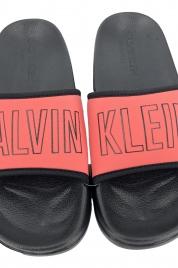 Plážové pantofle KW0KW00728 korálová - Calvin Klein