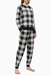 Dámské tepláky QS6302E-2ZJ šedočerná - Calvin Klein