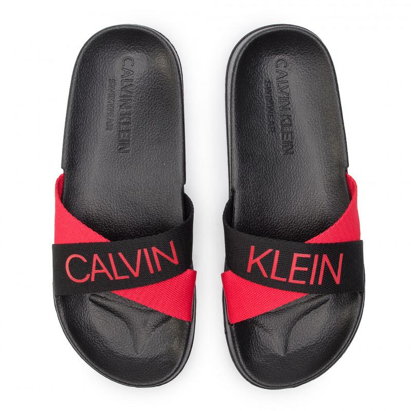 Plážové pantofle KW0KW00722 černá - Calvin Klein